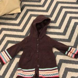 Gap button up fleece lined sweater